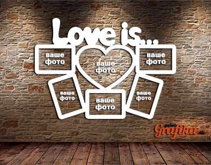 "Рамка для фото ""Love is..."""