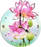 """Часы деревянные """"Лотос"""""""