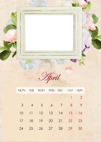 Фото календарь на апрель 2017