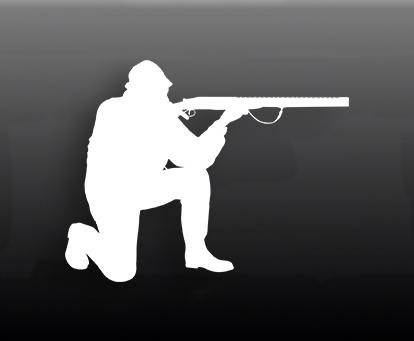 Наклейка на авто Охотник