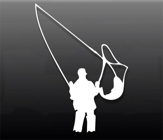 Наклейка на авто fishing2