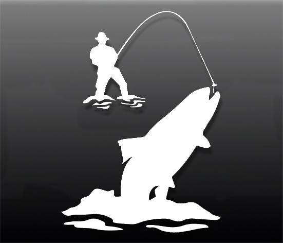 Наклейка на авто fishing3