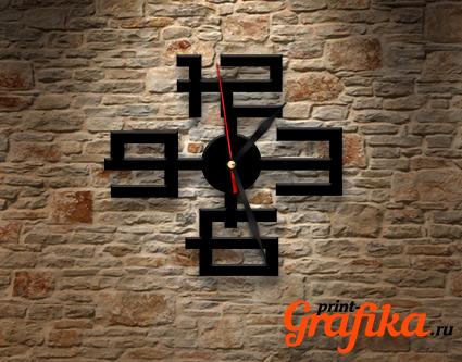 Часы геометрические