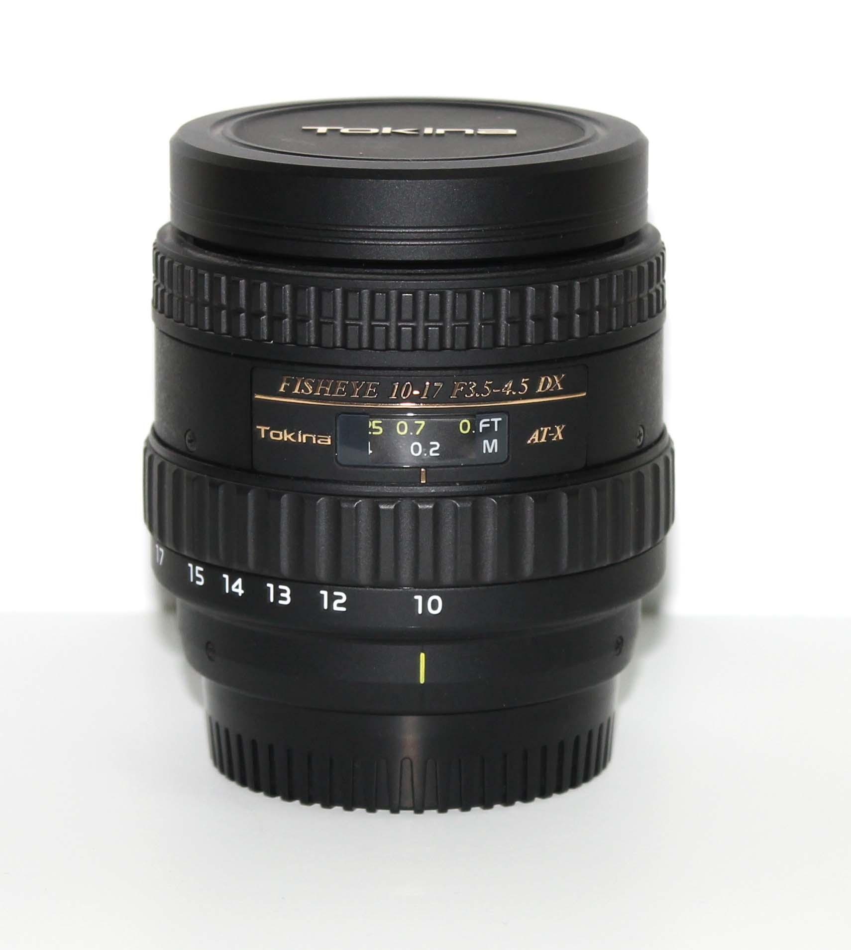Объектив Tokina AT-X 107 DX AF 10-17мм f/3.5-4.5 Fisheye  Nikon
