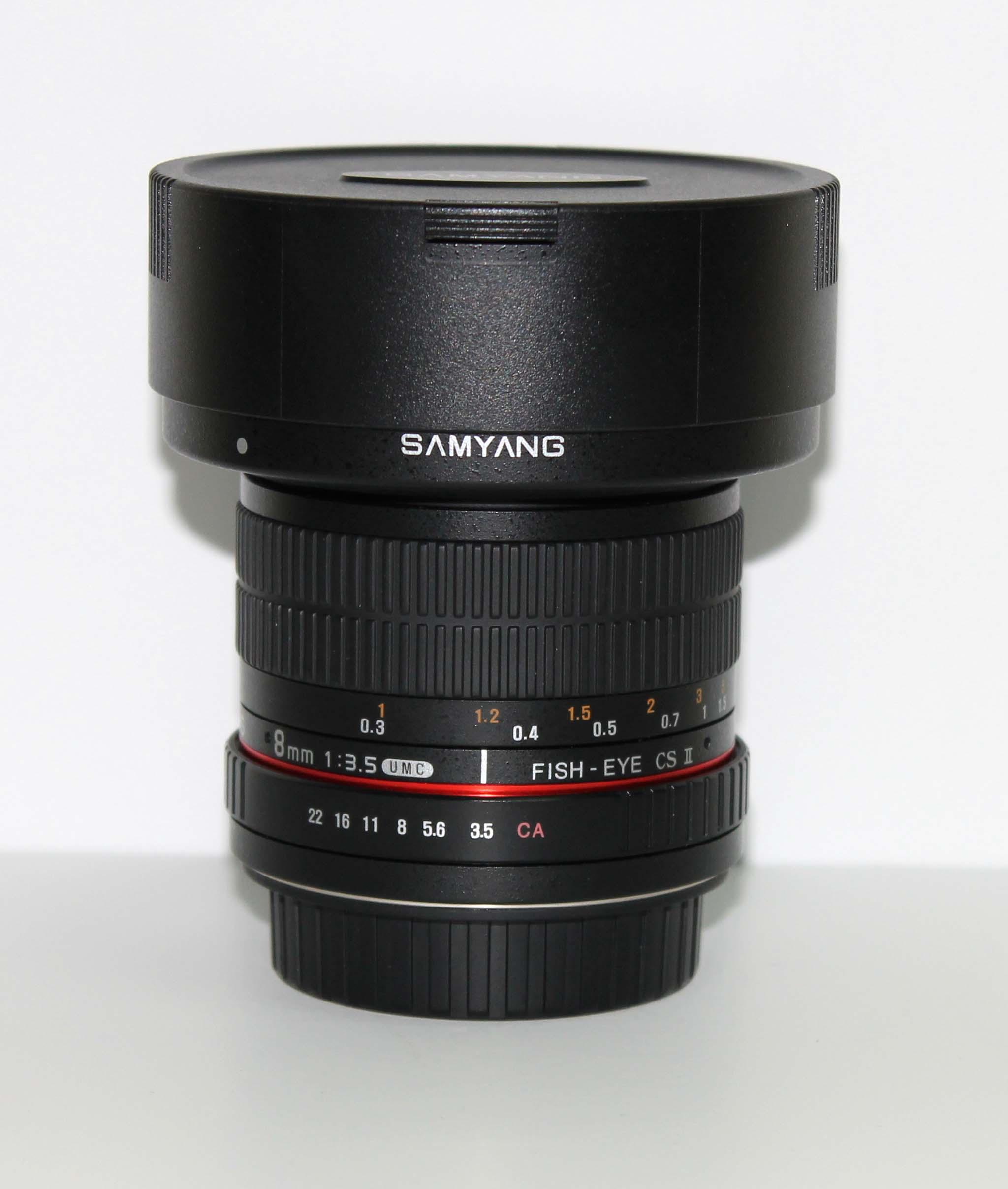 Объектив Samyang 8 mm F/3.5 AS IF USM Fish-eye CS || for Canon