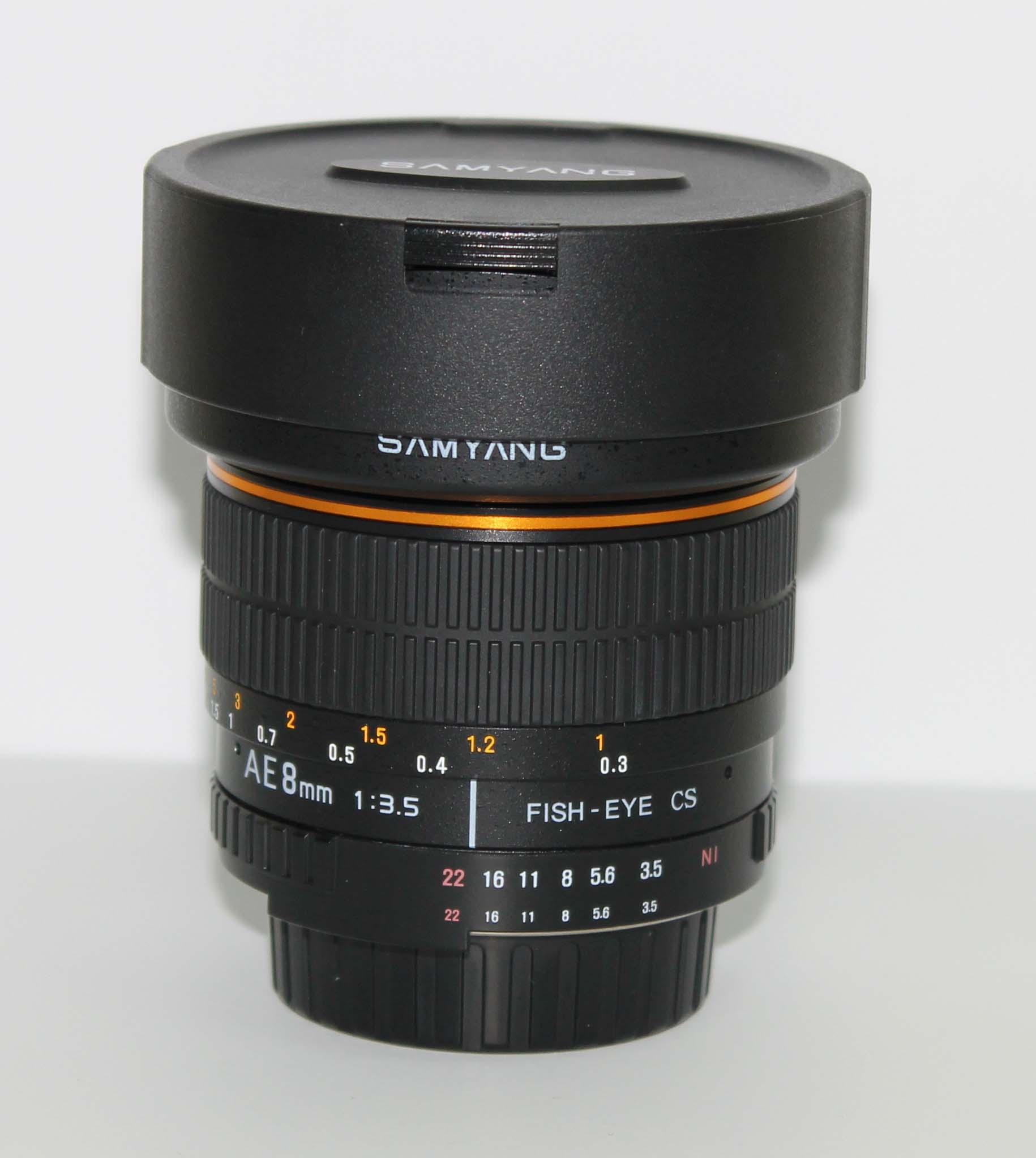 Объектив Samyang MF 8mm f/3.5 AS IF MC Fish-eye CS AE Nikon