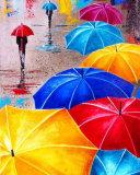 Яркие зонты