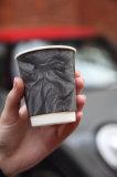 Бумажный стакан с дизайном «Черный крафт»