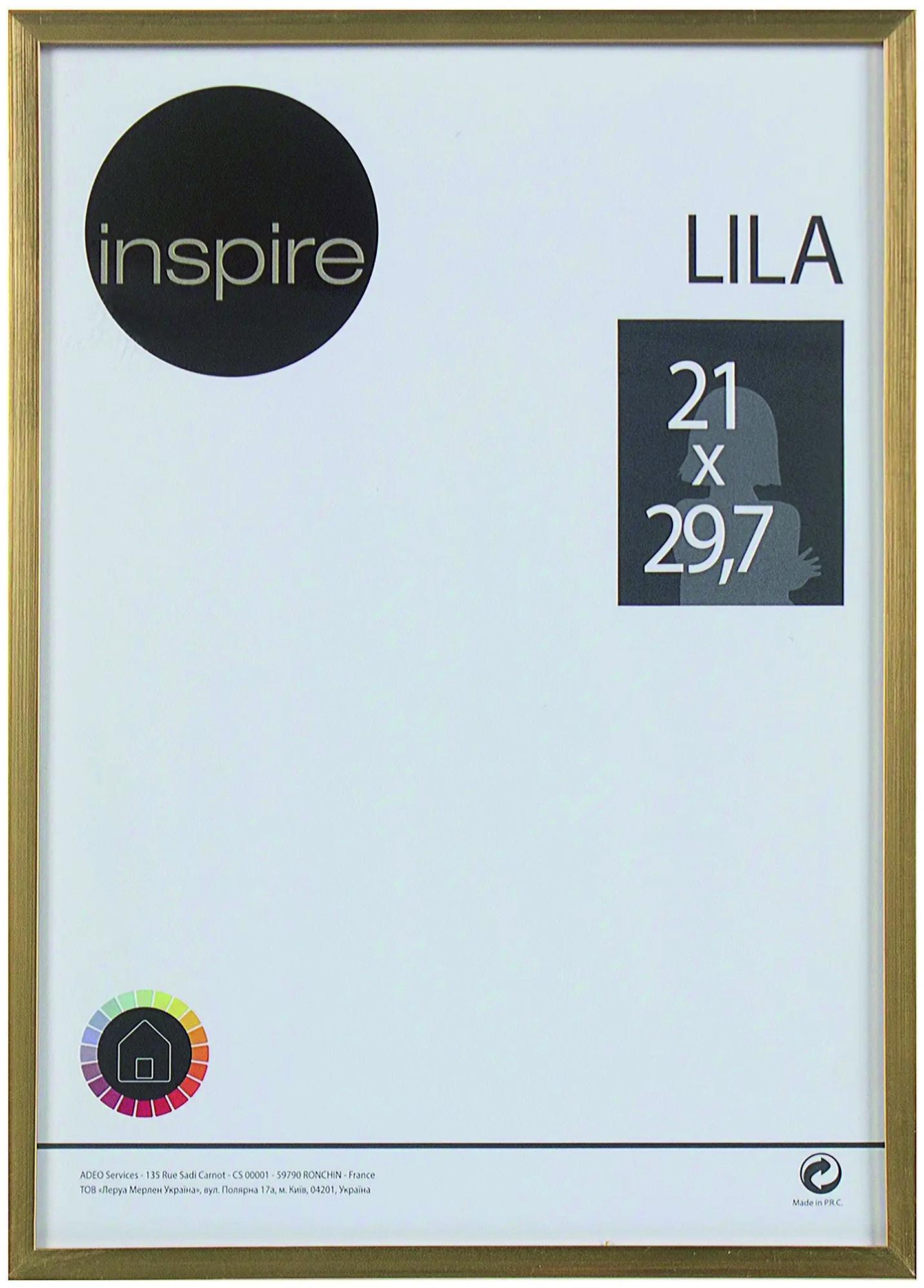 Фоторамка Lila 21x29,7 gold