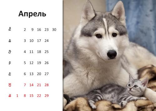 Апрель [year]